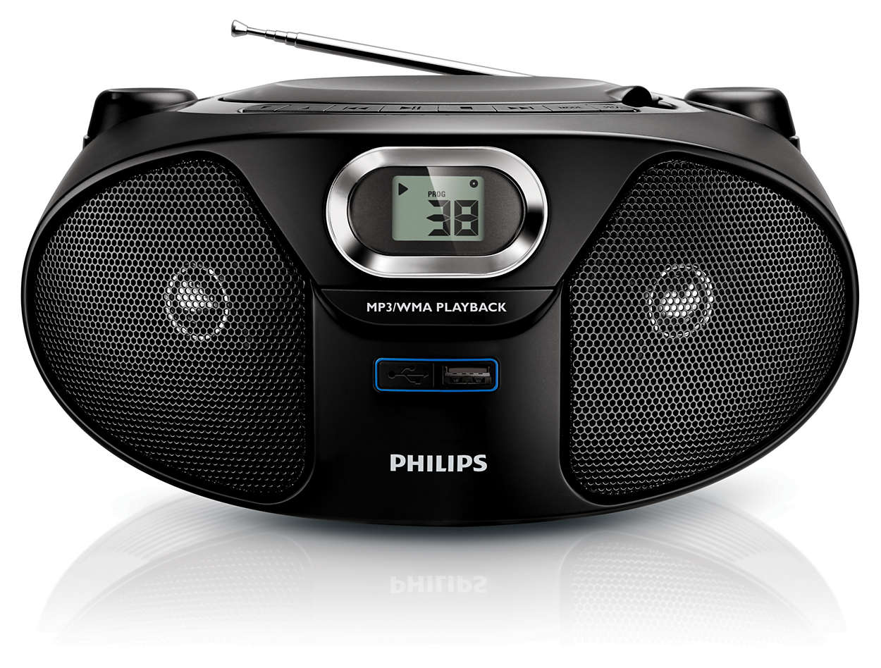 cd soundmachine mit usb und radio az385 12 philips. Black Bedroom Furniture Sets. Home Design Ideas