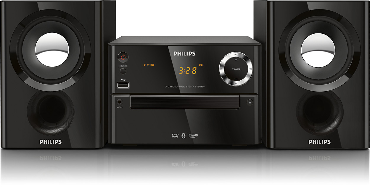 Micro Music System Btd1180 98 Philips