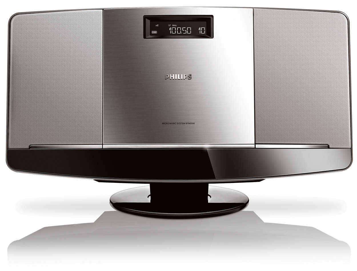 mini stereoanlage btm2056 12 philips. Black Bedroom Furniture Sets. Home Design Ideas