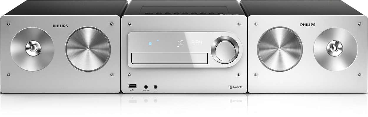mini stereoanlage mit bluetooth cd radio und usb btm5000 12 philips. Black Bedroom Furniture Sets. Home Design Ideas