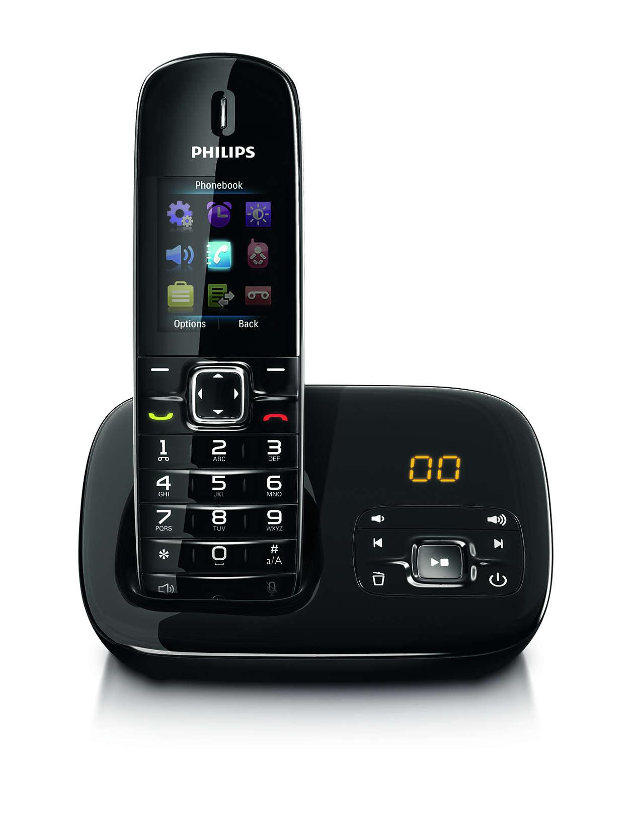 benear t l phone fixe sans fil avec r pondeur cd6851b fr. Black Bedroom Furniture Sets. Home Design Ideas