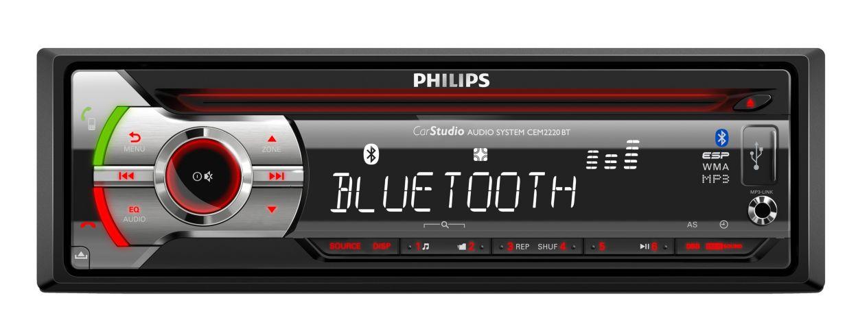 syst me audio pour voiture cem2220bt 12 philips. Black Bedroom Furniture Sets. Home Design Ideas