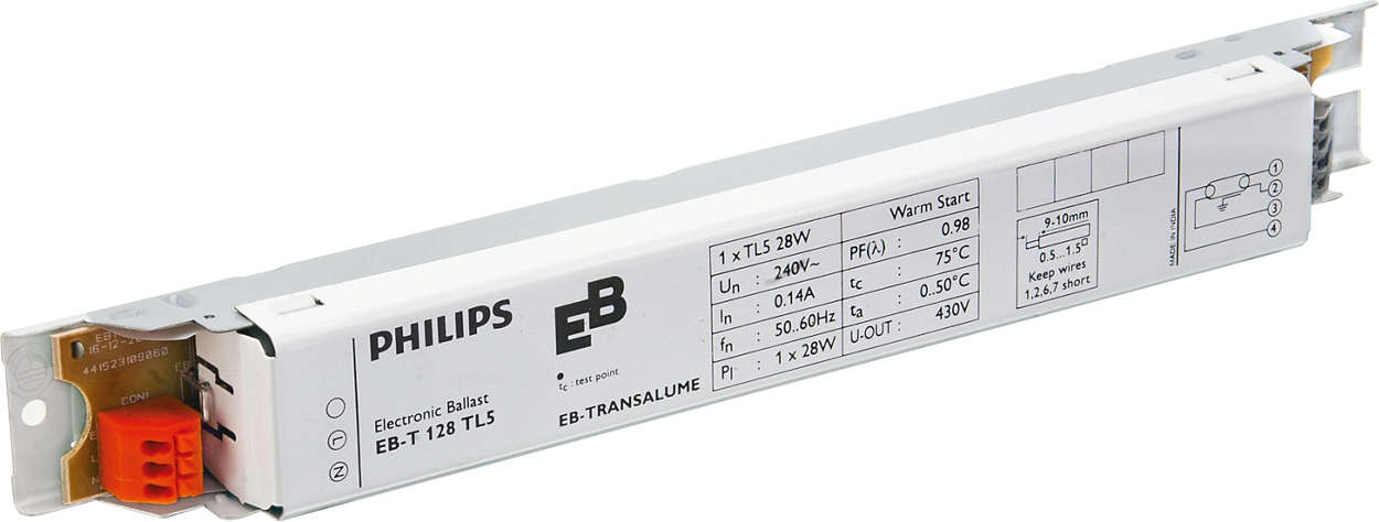 EB-T Electronic ballasts for TL5 lamps (India)