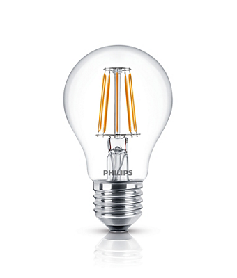classic filament led lamps led lamps philips lighting. Black Bedroom Furniture Sets. Home Design Ideas