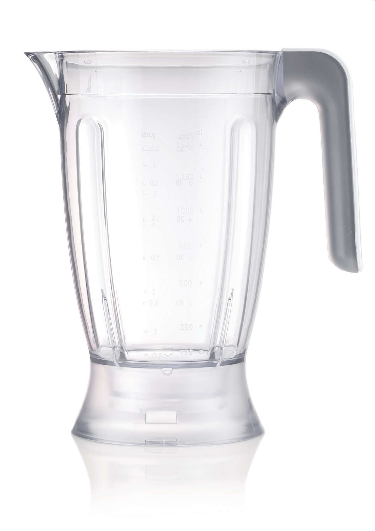 Blender beaker for food processor