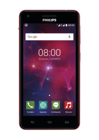 Смартфон V377 с WCDMA/GSM, черный с красным