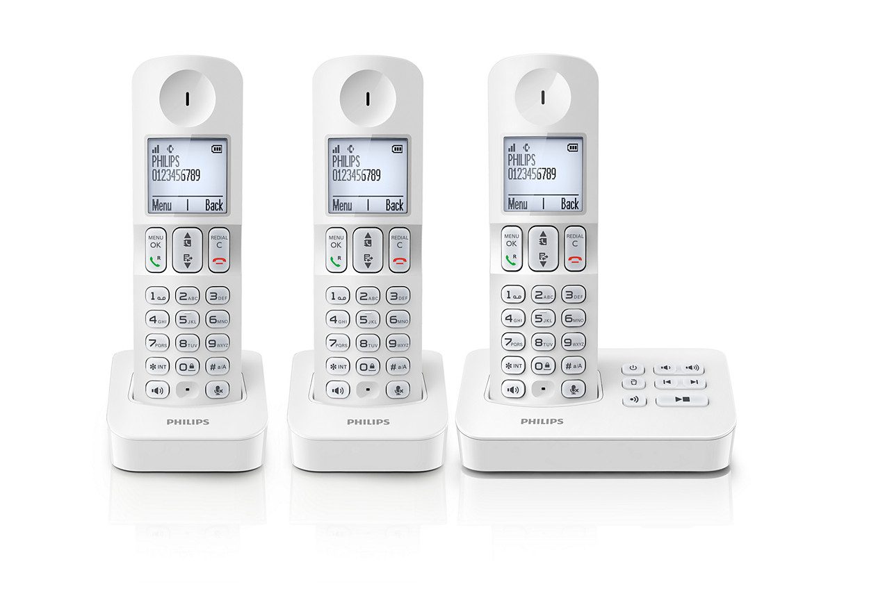 T l phone fixe sans fil avec r pondeur d4053w fr philips - Acheter un telephone fixe ...