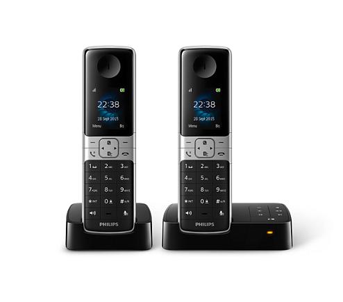 t l phone fixe sans fil avec r pondeur d6352b fr philips. Black Bedroom Furniture Sets. Home Design Ideas