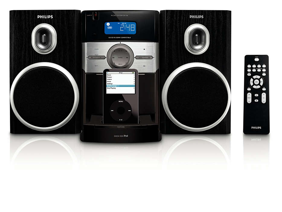 Enjoy iPod music in Hi-Fi sound