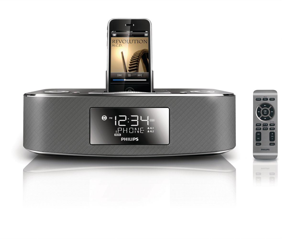 Bedroom phone clock radio