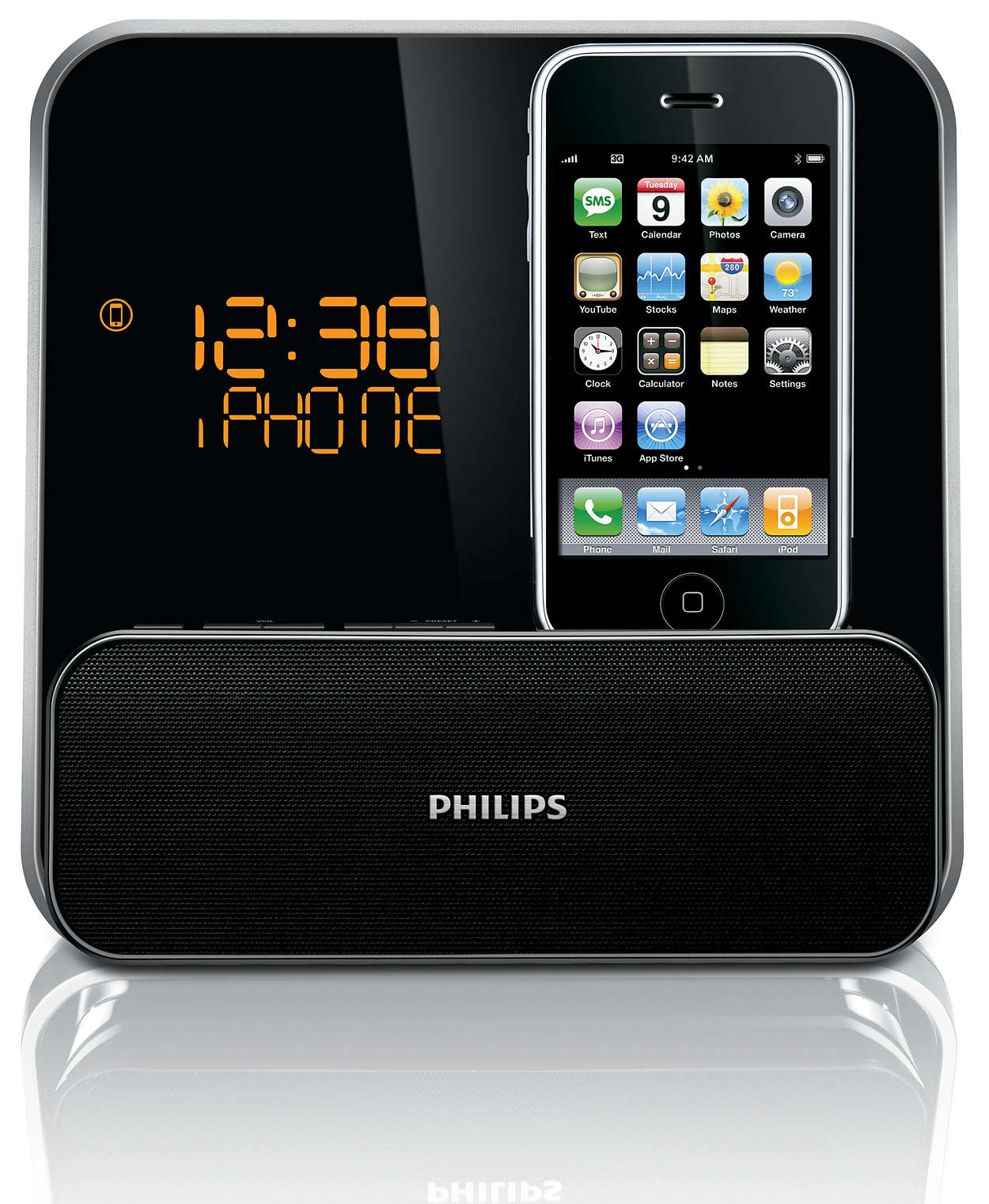 radio r veil pour ipod iphone dc315 12 philips. Black Bedroom Furniture Sets. Home Design Ideas