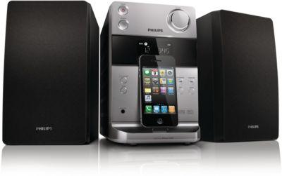 Micromuzieksysteem met dock voor iPod/iPhone Classic