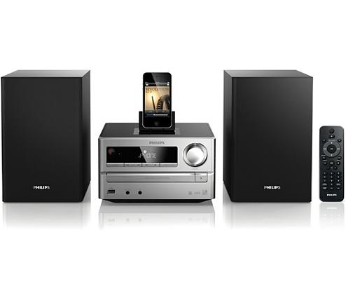 mini stereoanlage dcm2020 12 philips. Black Bedroom Furniture Sets. Home Design Ideas