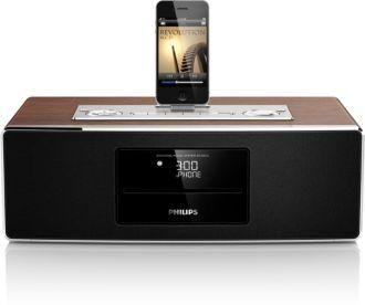 Philips  Sistema micro de música Base para iPod/iPhone/iPad DCM850/12