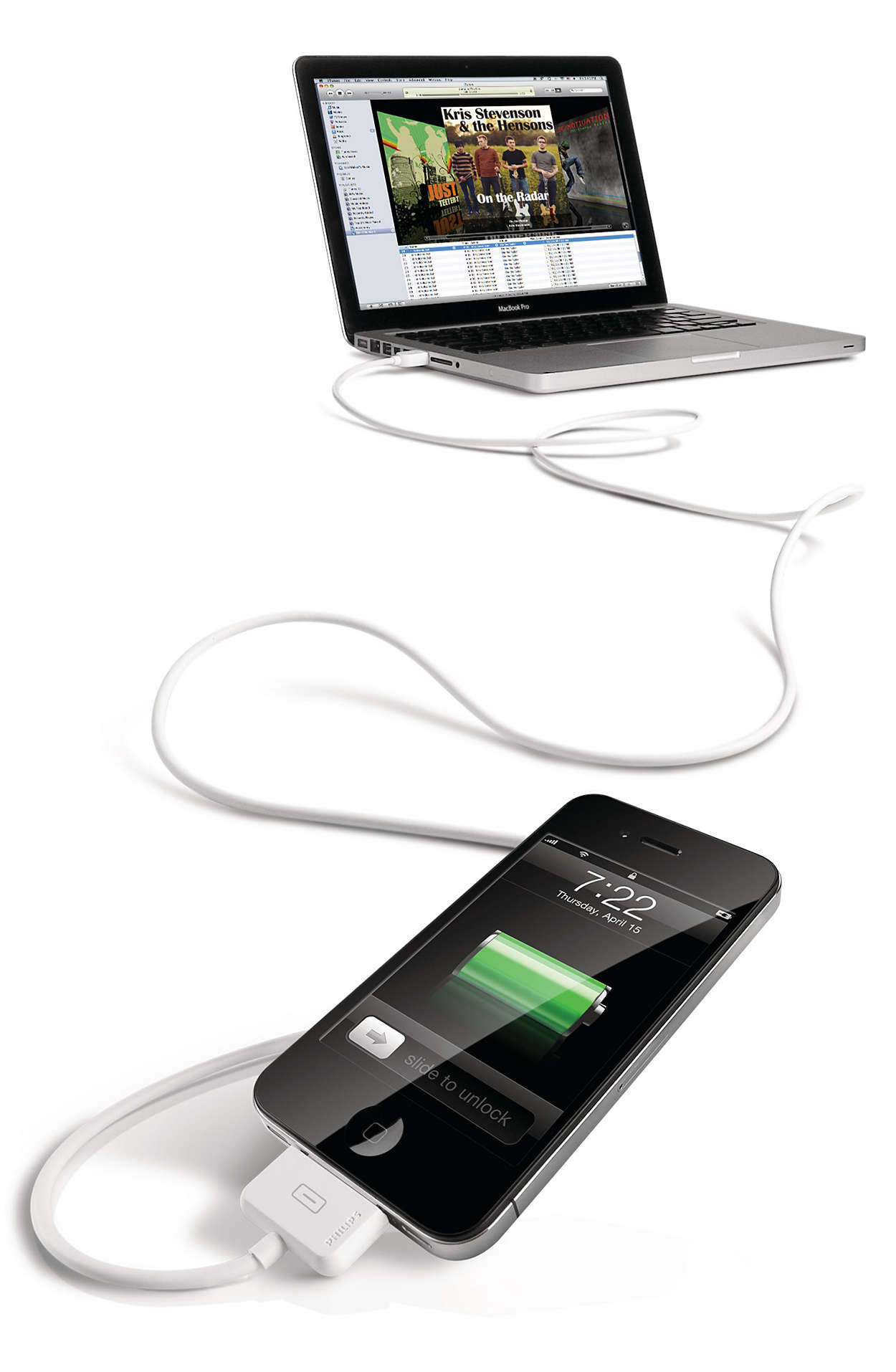 Sync and charge with