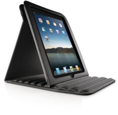 gewatteerde hoes met standaard voor de iPad