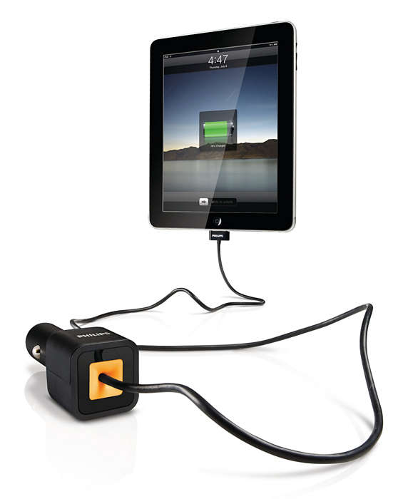 Uw iPad, iPhone of iPod opladen in de auto