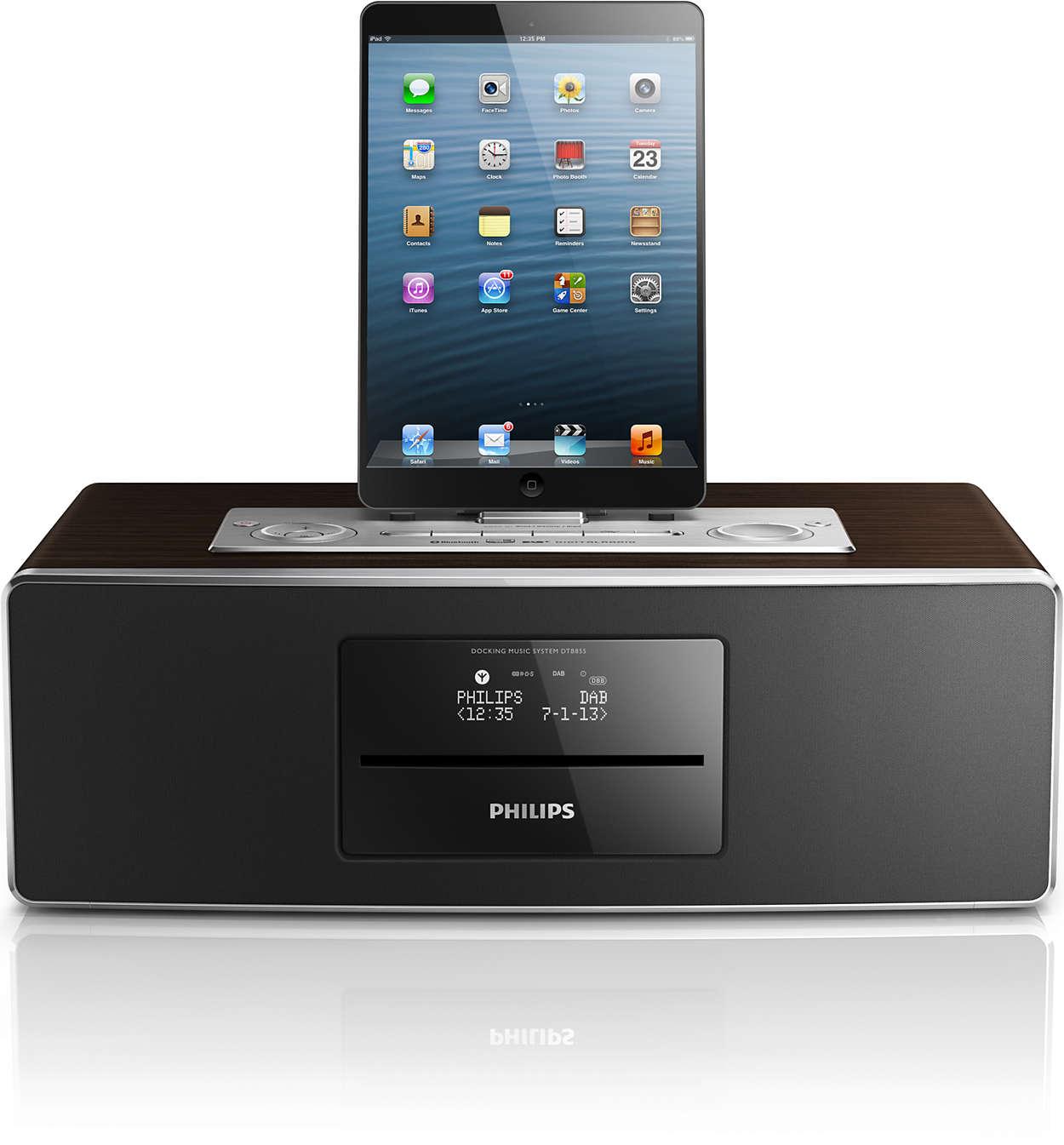 mini stereoanlage dtb855 10 philips. Black Bedroom Furniture Sets. Home Design Ideas