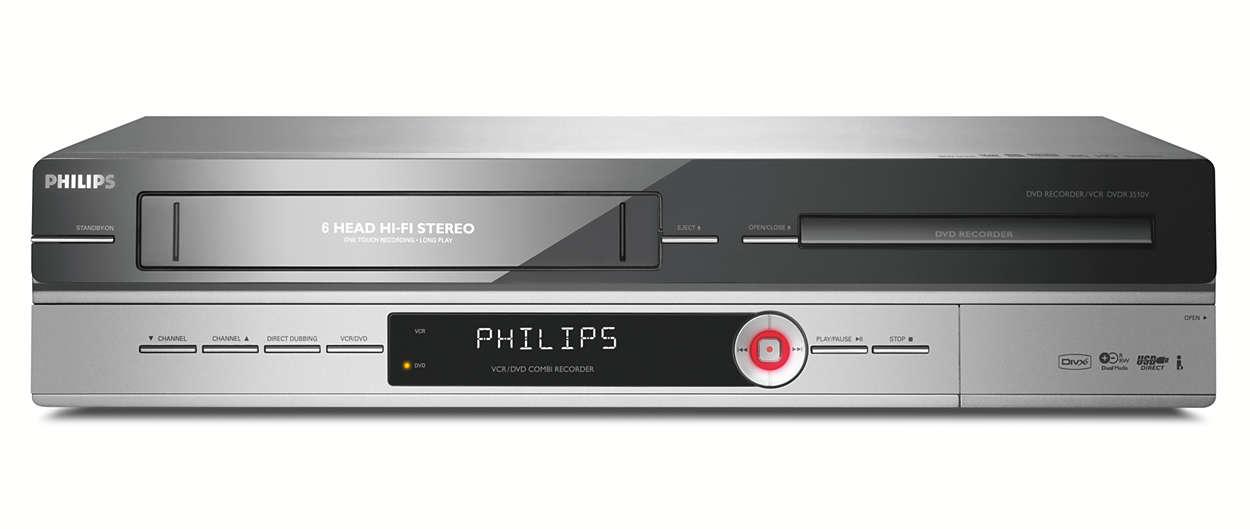 lecteur enregistreur dvd magn toscope dvdr3510v 31 philips. Black Bedroom Furniture Sets. Home Design Ideas