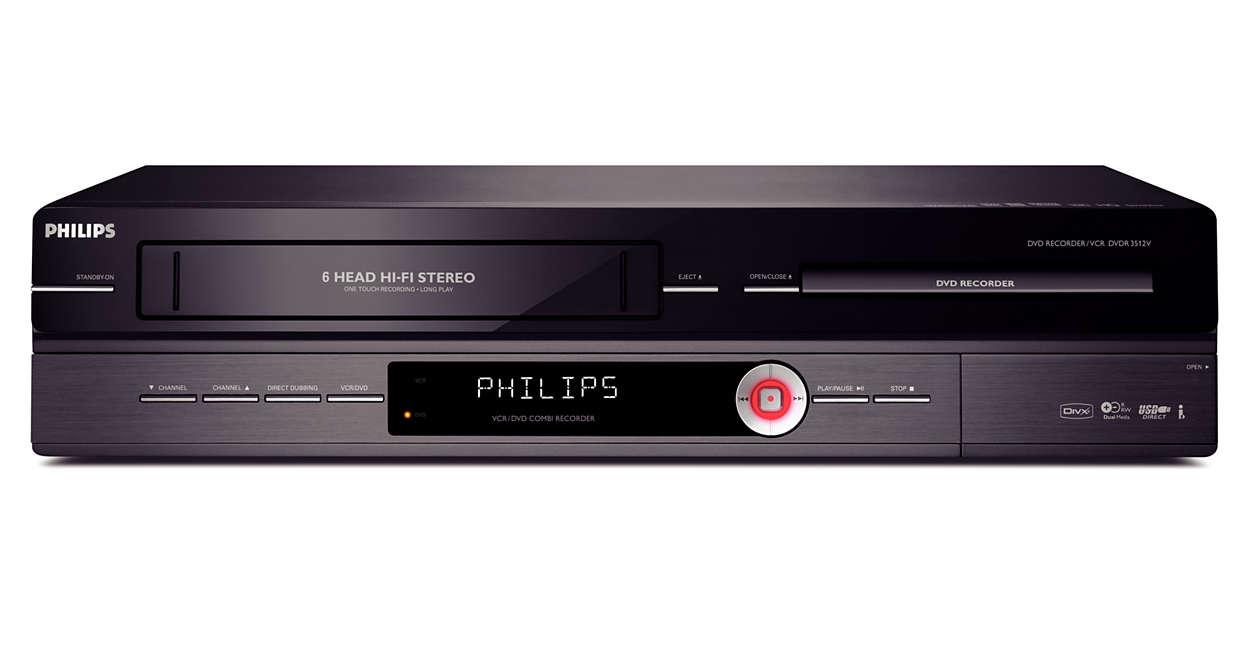 lecteur enregistreur dvd magn toscope dvdr3512v 12 philips. Black Bedroom Furniture Sets. Home Design Ideas