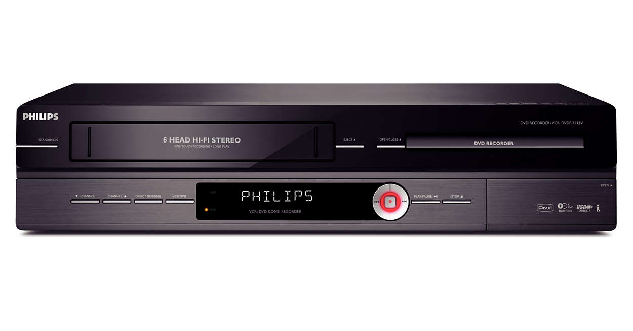 Lecteur Enregistreur Dvd Magn Toscope Dvdr3512v 12 Philips