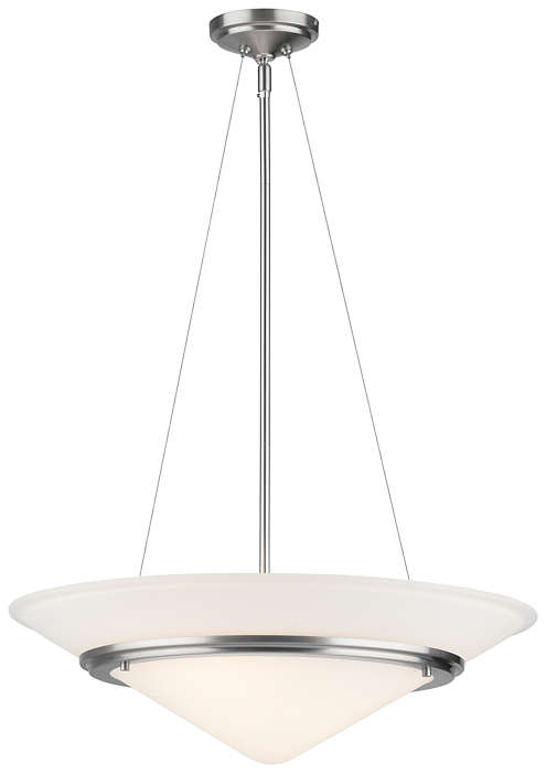 Regatta II 3-light Pendant in Satin Nickel finish