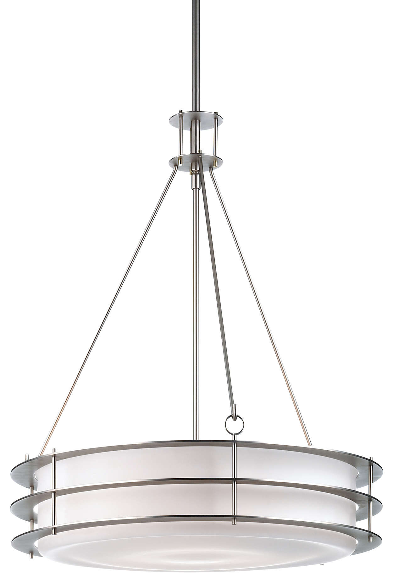 Hollywood Hills 3-light Pendant, Metallic Silver