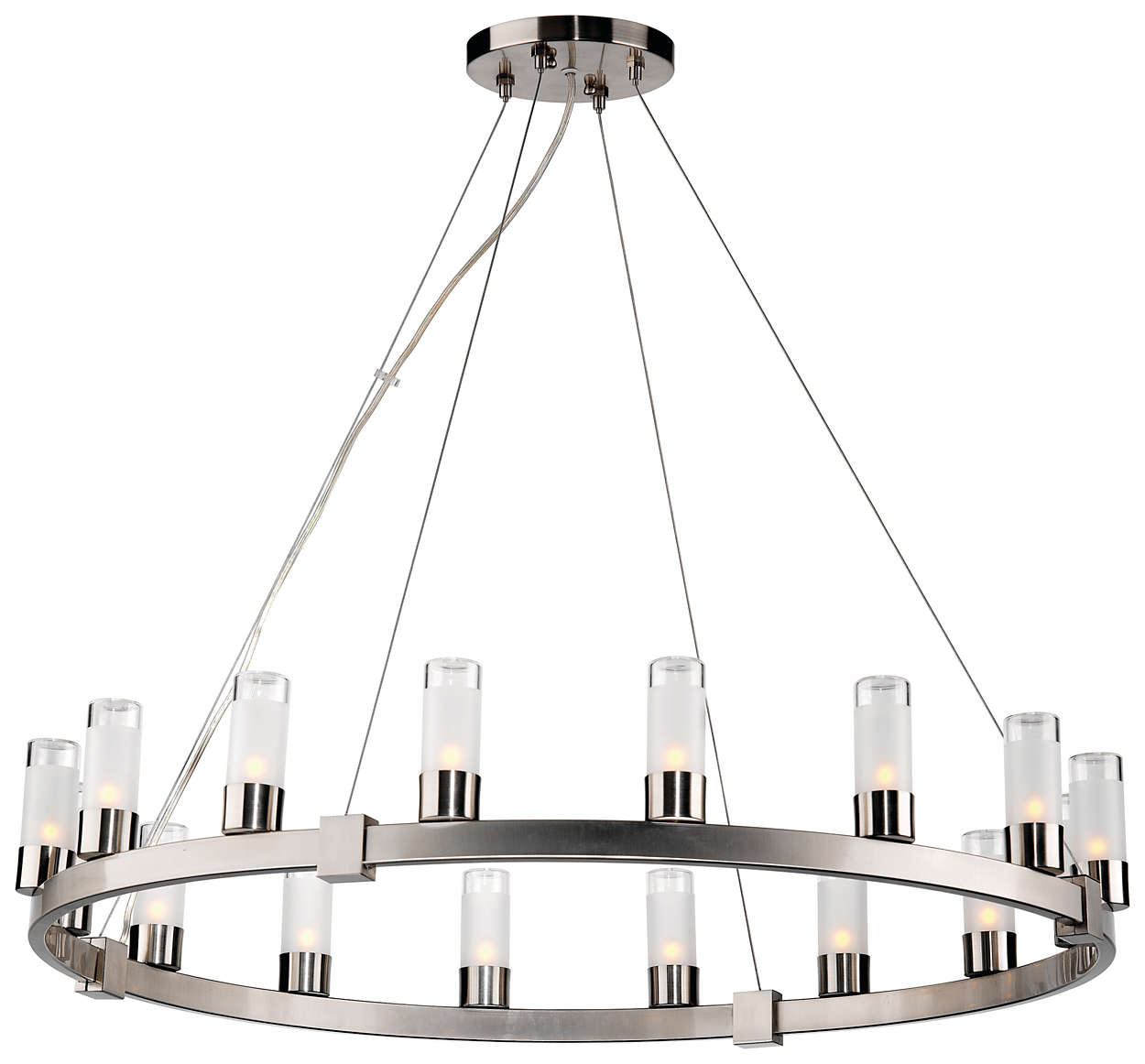 Revolution 16-light Chandelier, Satin Nickel