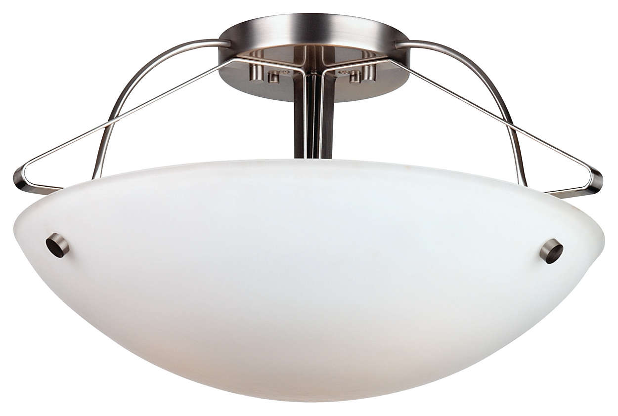Orb 3-light Ceiling in Satin Nickel finish