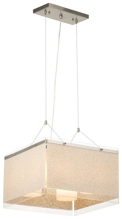 Pacifica 4-light Pendant in Satin Nickel finish