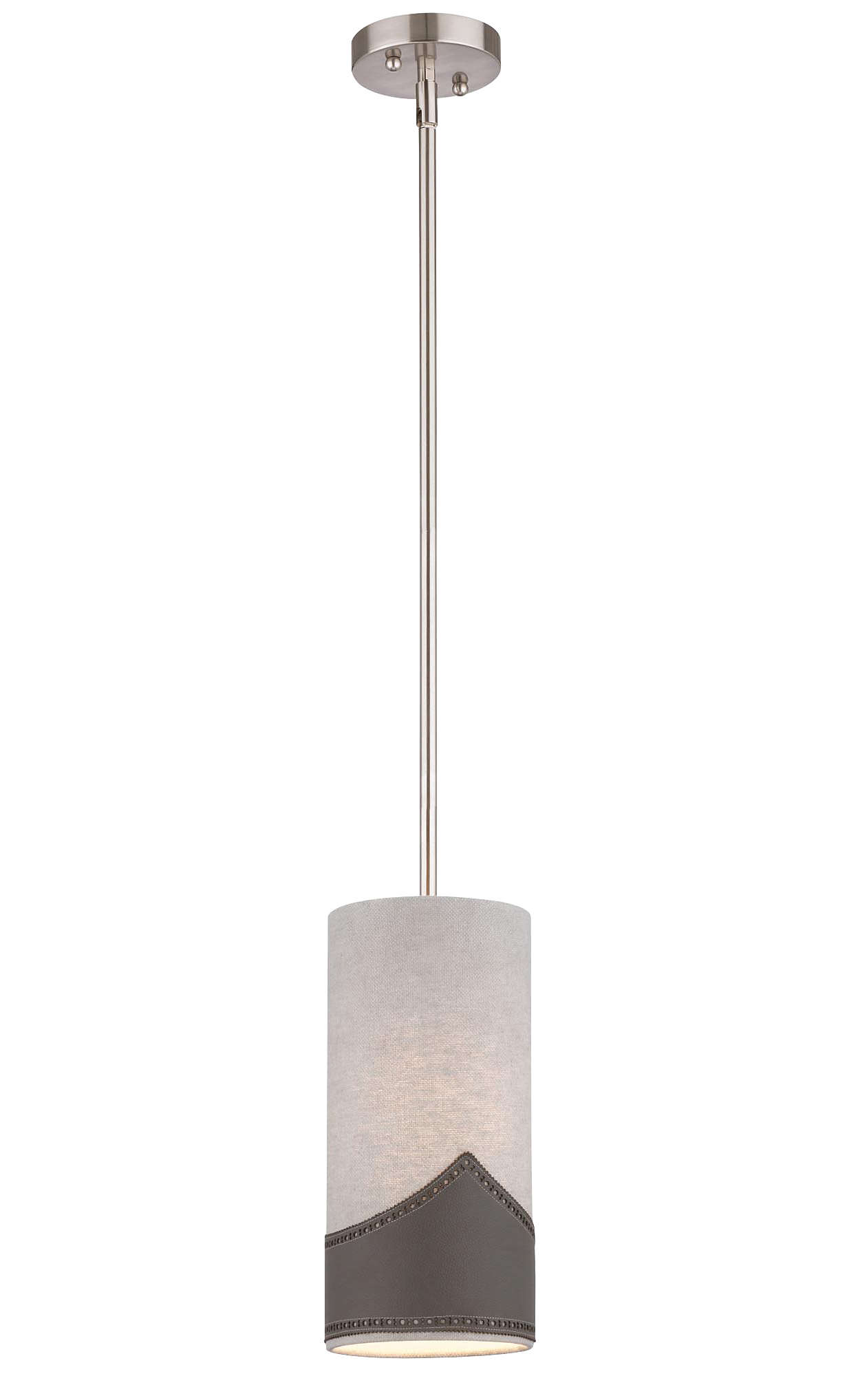 Wing Tip 1-light Pendant in Satin Nickel finish