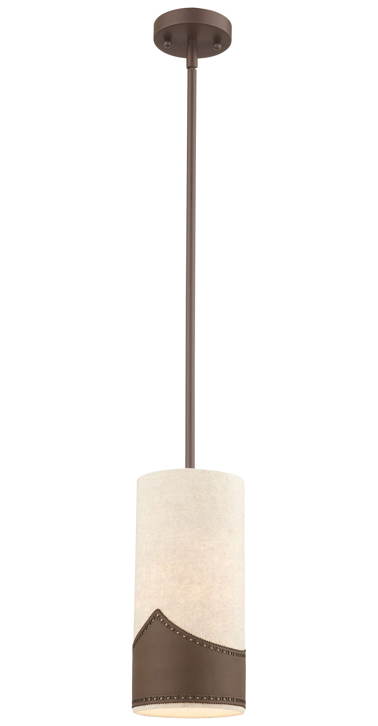 Wing Tip 1-light Pendant in Deep Bronze finish