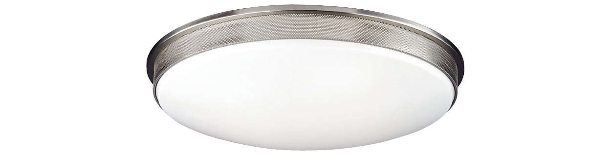 Perf 2-light Ceiling in Satin Nickel finish
