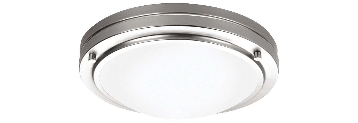 West End 1-light Ceiling in Satin Nickel finish