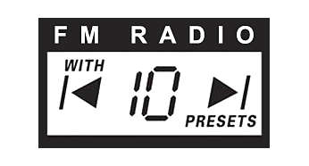Digital FM tuner with 10 presets