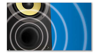 2-Way Bass Reflex Speaker System for powerful sound