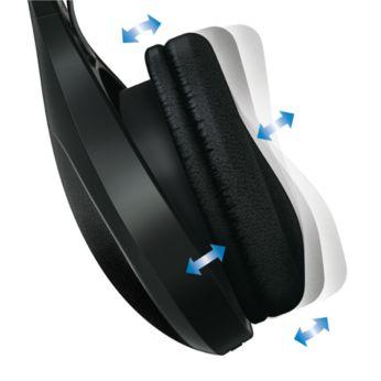 轉動式耳罩確保舒適緊貼