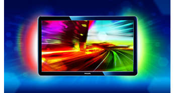 2-channel active Ambilight enhances the viewing experience