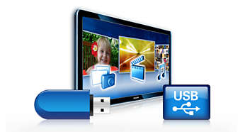 USB Connector for easy, instant multimedia playing