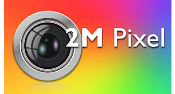 2 megapixel digital camera for crisp, vivid pictures