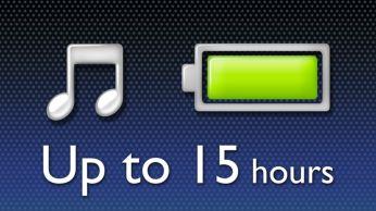 Mėgaukitės iki 15 valandų muzikos atkūrimu