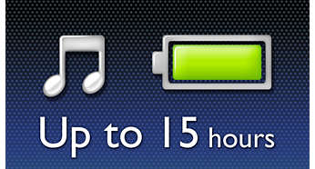 Enjoy up to 15-hour music playback