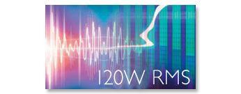 120W RMS kopējā izejas jauda