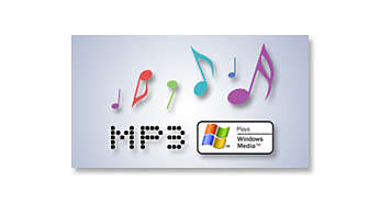 Reproduza CDs de MP3/WMA, CD e CD-RW
