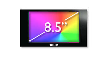 "21.6 cm/8.5"" TFT color LCD display for high quality viewing"