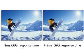 Tempo de resposta rápido de até 2 ms