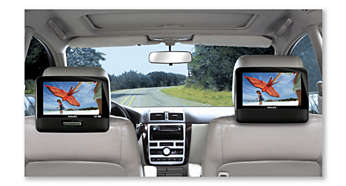 Expand movie enjoyment with dual TFT LCD screens