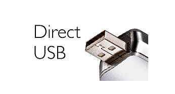 Direct USB – no cables needed