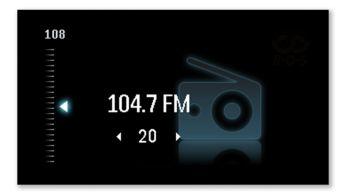 Více hudby sdigitálním rádiem FM s20 předvolbami stanic