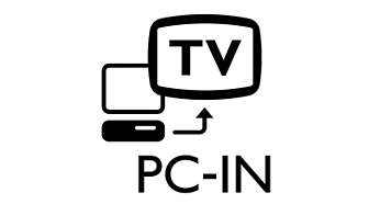 PC-input allows you to use your TV as a PC monitor